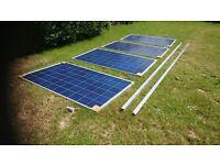 4 x 265 watt solar panels new