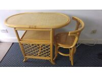 Good condition table and chair