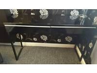 IKEA Besta Burs High Gloss Desk Black