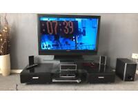 Next glass tv entertainment unit