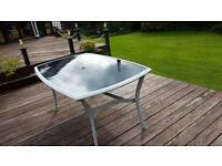 Outside dining table with 6 chairs