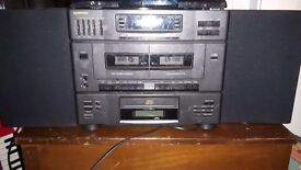 Samsung Stereo, cd, tape, radio and speakers
