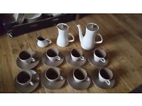 Poole twintone coffe set and serving ware