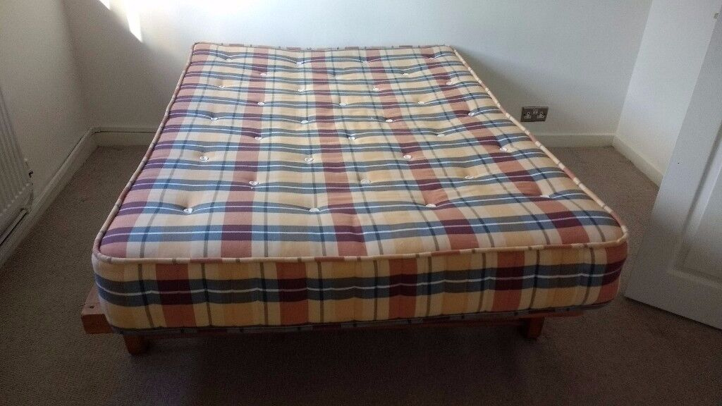Double bed + double mattress (good condition)