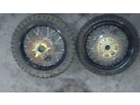 12 inch front and back pitbike wheels