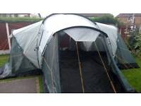 Vango Colorado 600 dlx 6 berth tent with attached groundsheet