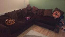 Corner sofa with 2x2 seater sofas
