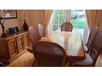 Dining room table/6 chairs plus sideboard unit