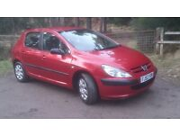 2003 peugeot 307 hdi, 5 door, 1 years mot, 111,000 miles, great condition all round, £850