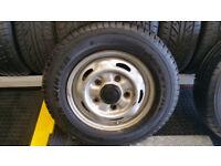 195 70 15 C 1 x tyre Firestone VanHawk Winter + steel wheel