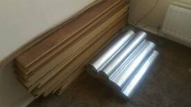 Laminated flooring & underlay