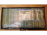 Casablanca Caravan Awning Tent Decking Breathable Carpet 2.5m X 4.5m White & Green New £27 ono