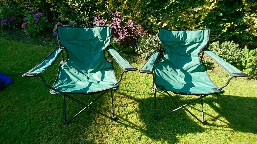 2 X Folding Chairs Garden / Camping etc