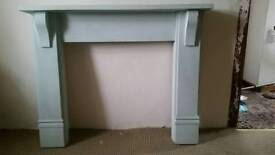 Painted fireplace - wooden