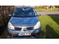2005 grand scenic 7 seater 11 months test spares or repair low miles