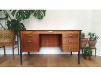 Superb Mid Century Vintage 1950's 1960's Retro Teak Desk by Gordon Russell Industrial Style