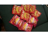 Packets of crisps