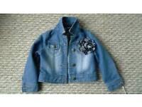 Girls denim jacket 3-4yrs