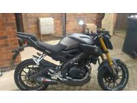 Motorcycle yamaha mt 125 abs