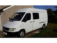 Mercedes Sprinter campervan motorhome race van or Moto X