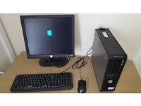 Dell Optiplex 760 PC and LCD 15 inch Monitor, Windows 10