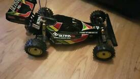 Vintage kyosho ultima pro xl rc car remote / radio control