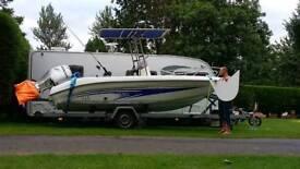 Mazury 525 open sports boat.