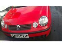 volkswagen polo sdi 3 door hatchback red 2003