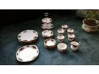 Royal Albert tea set and dinner plates
