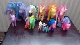 13 assorted pony's