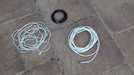TV aerial coaxial cables and SCART cables FREE