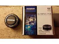 Olympus pen 17mm f2.8 pancake lens