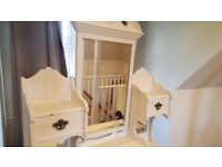 HALF PRICE!!!!GORGEOUS antique cream bedroom dresser
