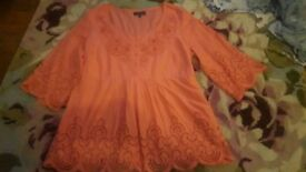 Ladies Mark's and Spencer Per Una tunic kaftan style blouse size 18