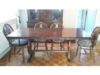 Vintage Mahogany Dining Table and Six Chairs