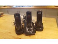 Panasonic KX TG8421E Triple Digital Cordless Phone and Answering Machine
