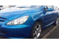 "**PEUGOET 307 2L HDI ( FULL 12 MONTHS M.O.T) WITH 17"" OZ RACING LOW PROFILE ALLOYS**"