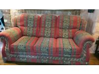 Red Sofas / Couch 2 of 3 Seaters Both in Excellent Condition