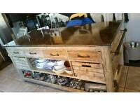 6ft long bespoke kitchen island