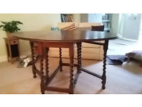 oval gate-leg table, good-looking and sturdy