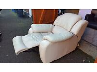 White recliner armchair. FREE delivery in Derby