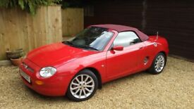 MGF SPORTS ROADSTER CONVERTIBLE IN FERRARI RED WITH RARE ROUGE SOFT HOOD AND TONNEAU