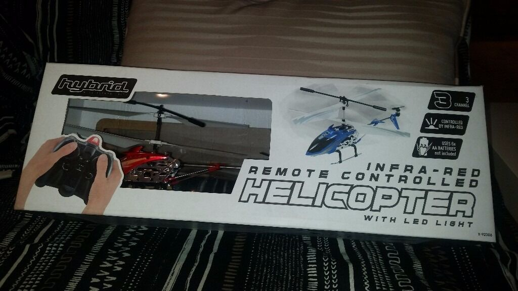 Remote controlled helicopterin Knowle, BristolGumtree - Remote controlled helicopter is new, is still in the box. I sell it because I bought it and I didnt use it. Cost £15
