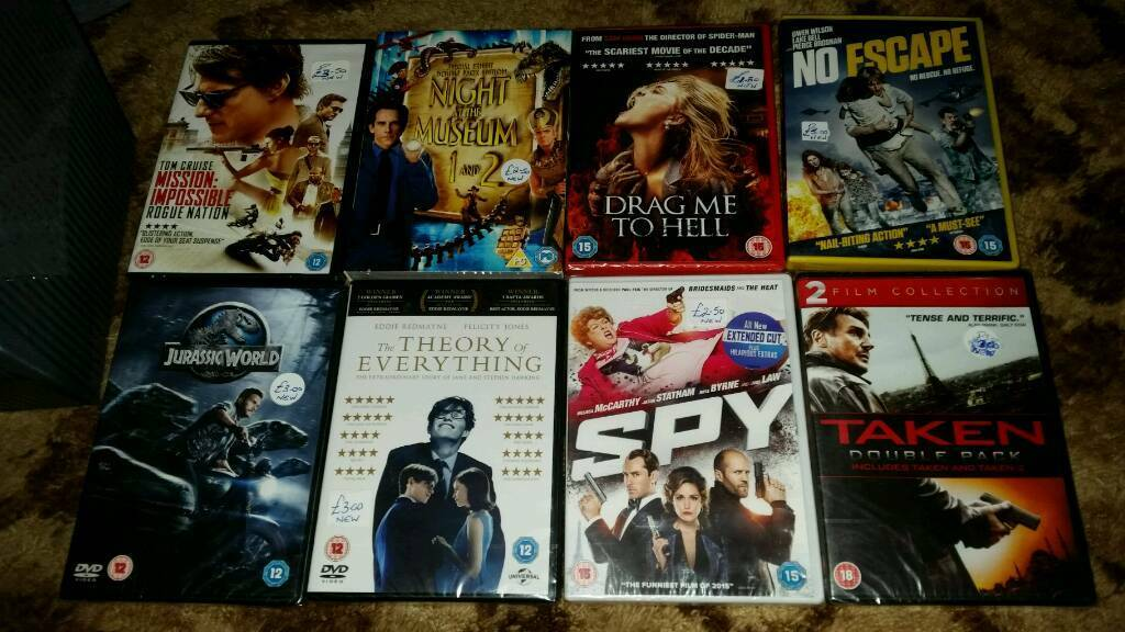 NEW AND SEALED DVDS JUST £1 EACH