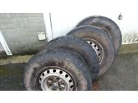 """16"""" wheels with tyres"""