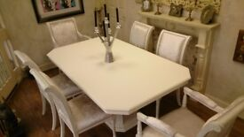 Shabby Chic Italian Style Extending Table & Chairs