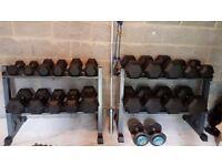 Full Rack of weights/dumbbells
