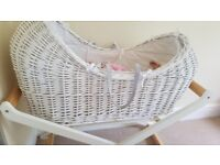 Moses Basket from John Lewis in great condition. Comes with 3/4 extra fitted sheets too.