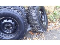 Land Rover Discovery 2 wheels and tyres 235 x 85 x 16