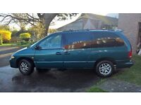 LEFT HAND DRIVE, 2001 Chrysler Grand Voyager, 3.3l petrol engine, 7 seater, alloy wheels/good tires,